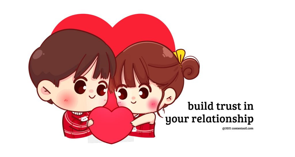 Trust in a relationship,